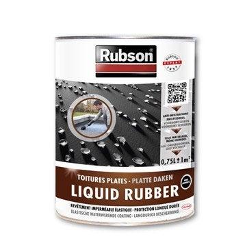 Revêtement d'étanchéité Stop fuite toiture plate, RUBSON noir 0.75 l