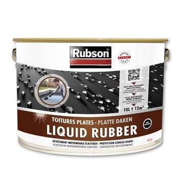 Revêtement d'étanchéité Stop fuite toiture plate, RUBSON noir 10 l