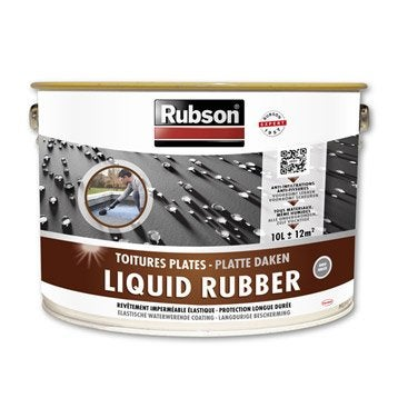Revêtement liquide Stop fuite toiture plate, RUBSON gris 10 l