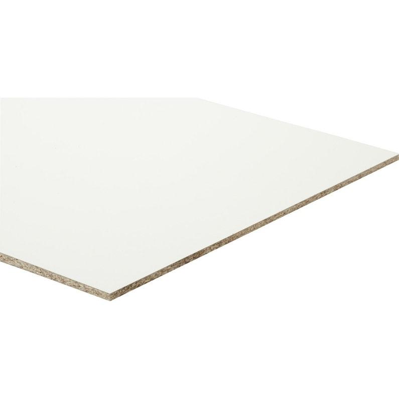 Panneau Aggloméré Blanc Ep10 Mm X L250 X L125 Cm