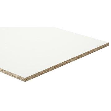 Panneau aggloméré blanc, Ep.15 mm x L.250 x l.125 cm