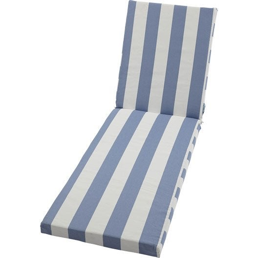 coussin de bain de soleil blanc bleu cabourg nuage leroy merlin. Black Bedroom Furniture Sets. Home Design Ideas