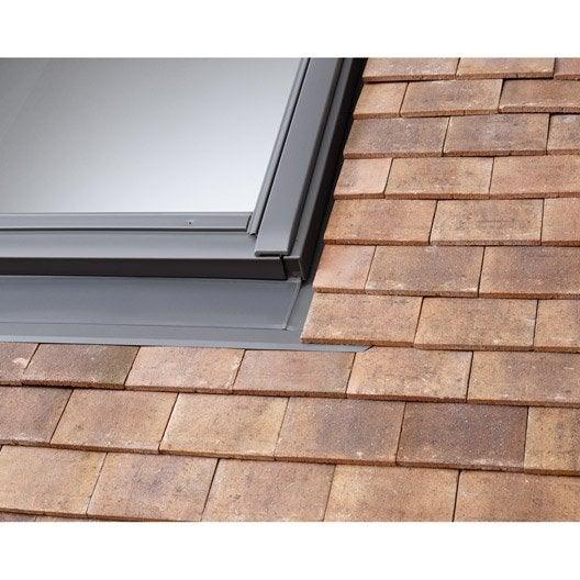 Raccord pour fen tre de toit velux edp mk04 gris leroy for Type de fenetre de toit