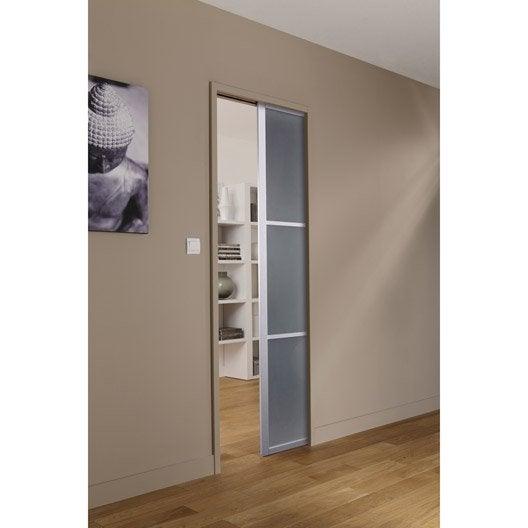Ensemble porte coulissante aspen aluminium avec galandage - Portes coulissantes aluminium ...