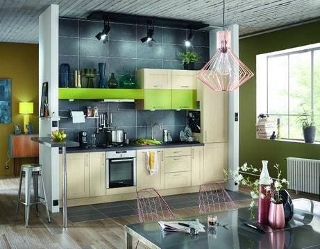 Un mélange de matières et de couleurs pour donner du style à votre cuisine