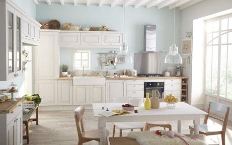 Une cuisine au charme romantique pour toute la famille