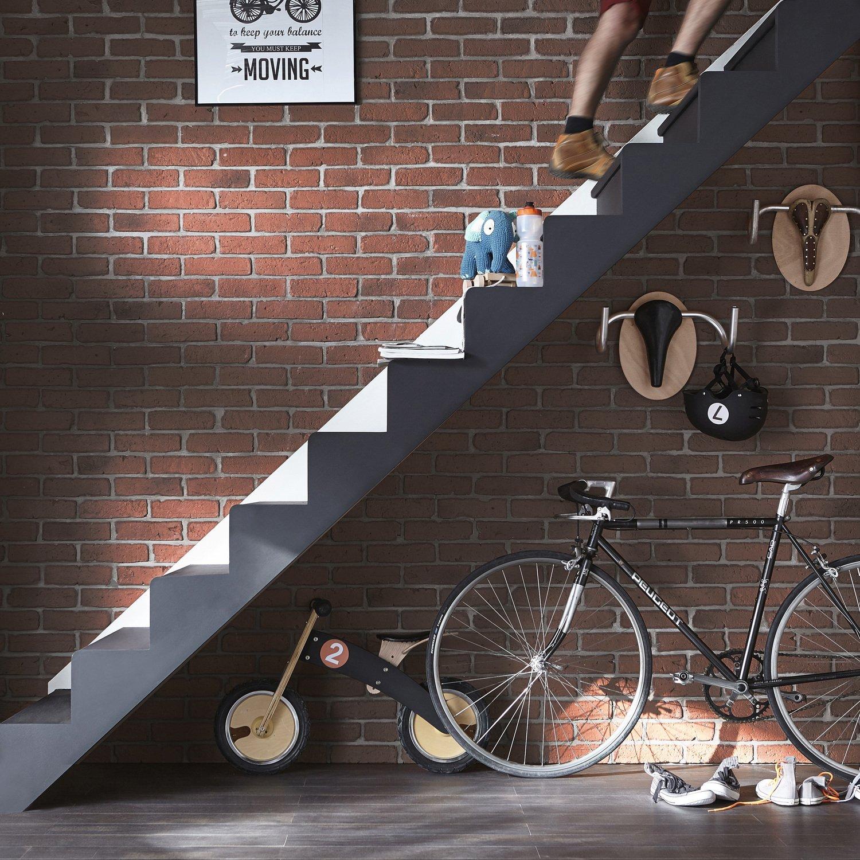 un mur de brique rouge pour un style loft industriel leroy merlin. Black Bedroom Furniture Sets. Home Design Ideas