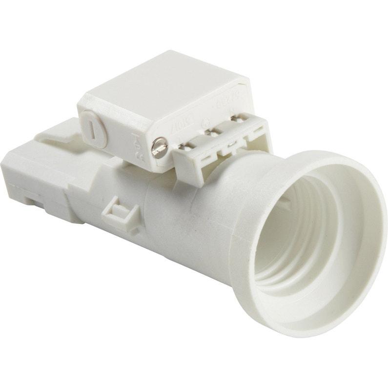 Douille E27 Et Fiche Dcl E27 à Vis Plastique Blanc