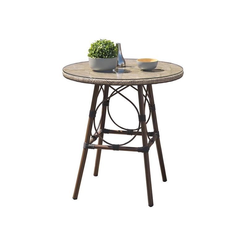 Table de jardin de repas Marius ronde lin 2 personnes