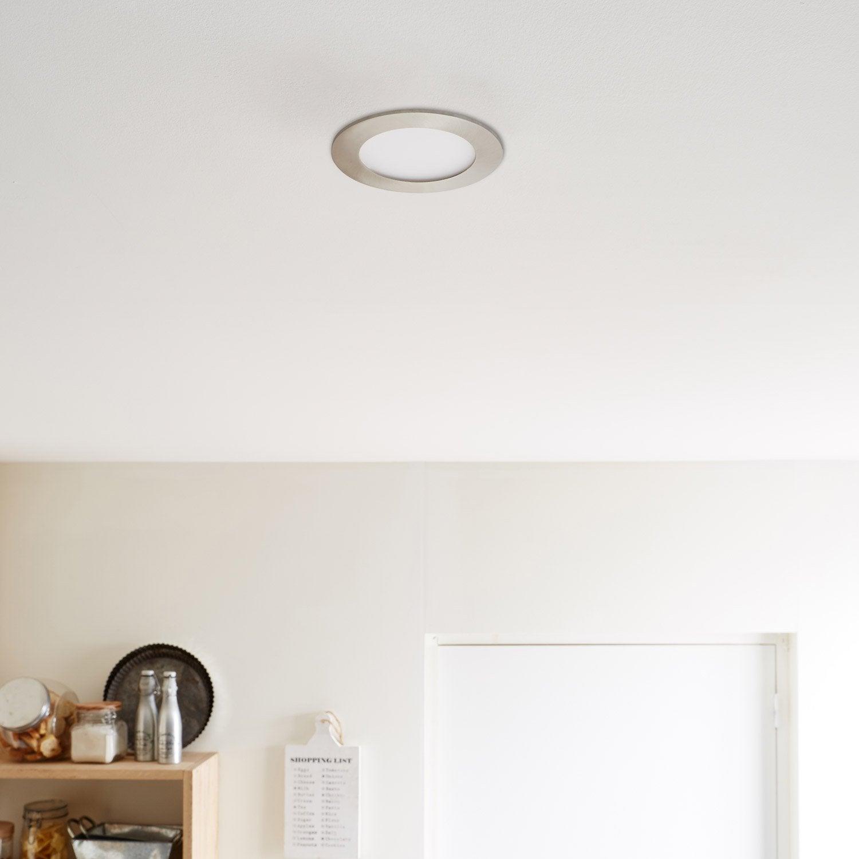 ... Kit 1 Spot à Encastrer Extraflat Fixe Led INSPIRE LED Intégrée,  Diam.12cm, ...