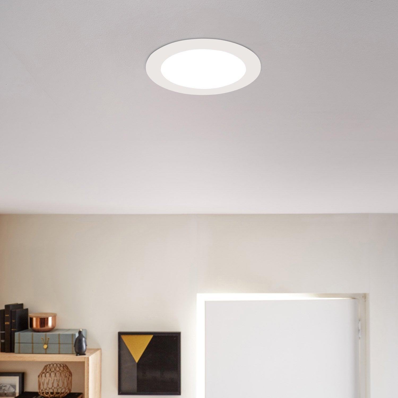 Kit 1 Spot à Encastrer Extraflat Fixe Led INSPIRE LED Intégrée Blanc ...