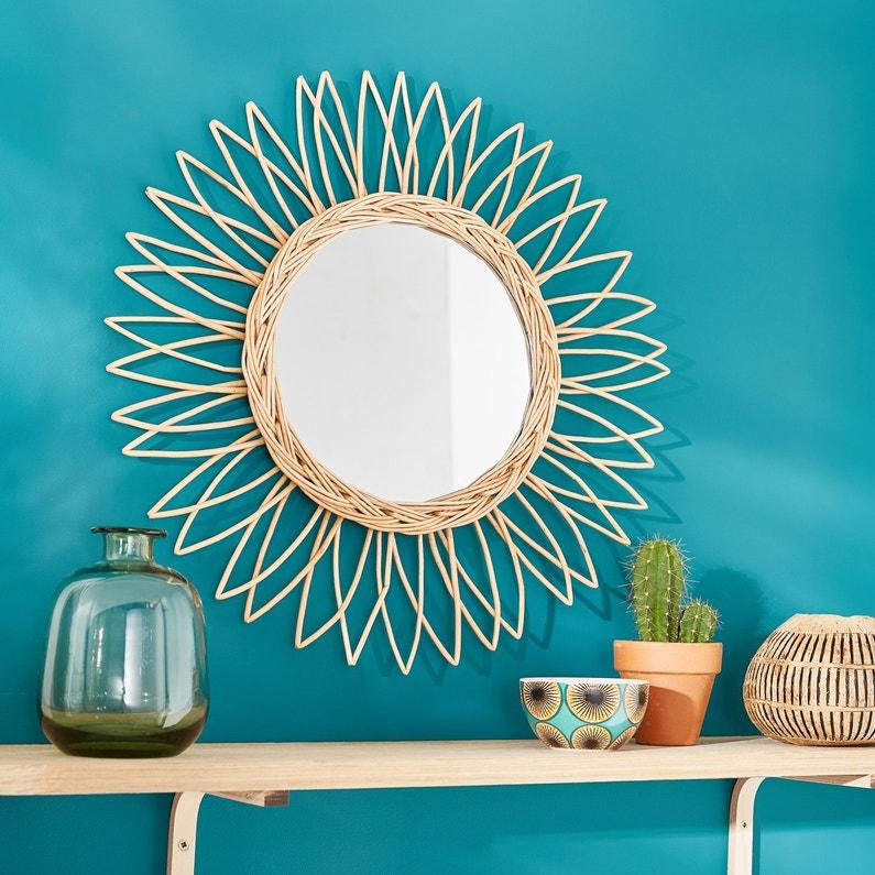 habillez le mur du salon avec un miroir bambou marguerite leroy merlin. Black Bedroom Furniture Sets. Home Design Ideas