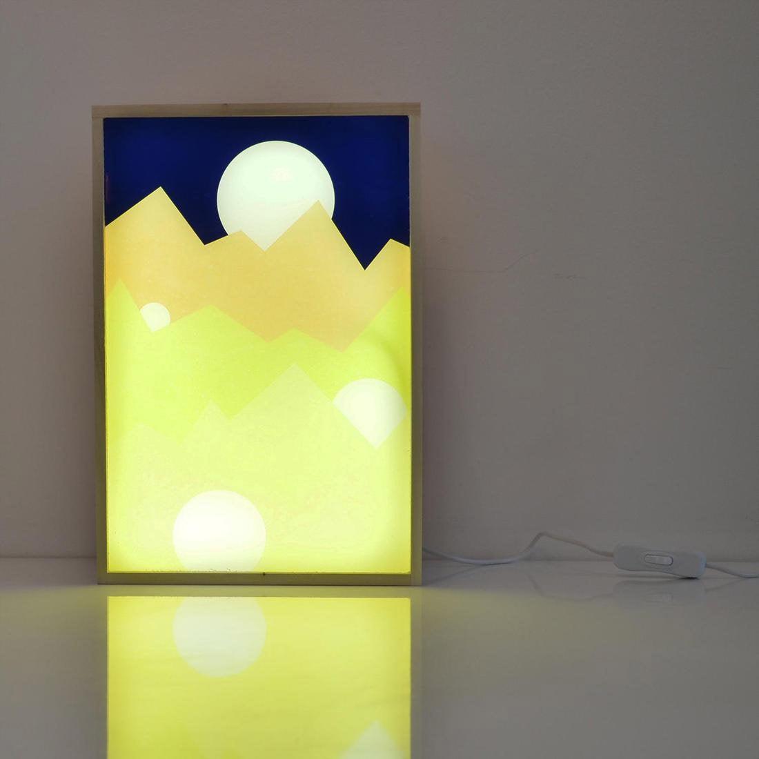 Boîte lumineuse, led intégrée Under the moonlight DADA LIGHT, multicolore, 9.6 W