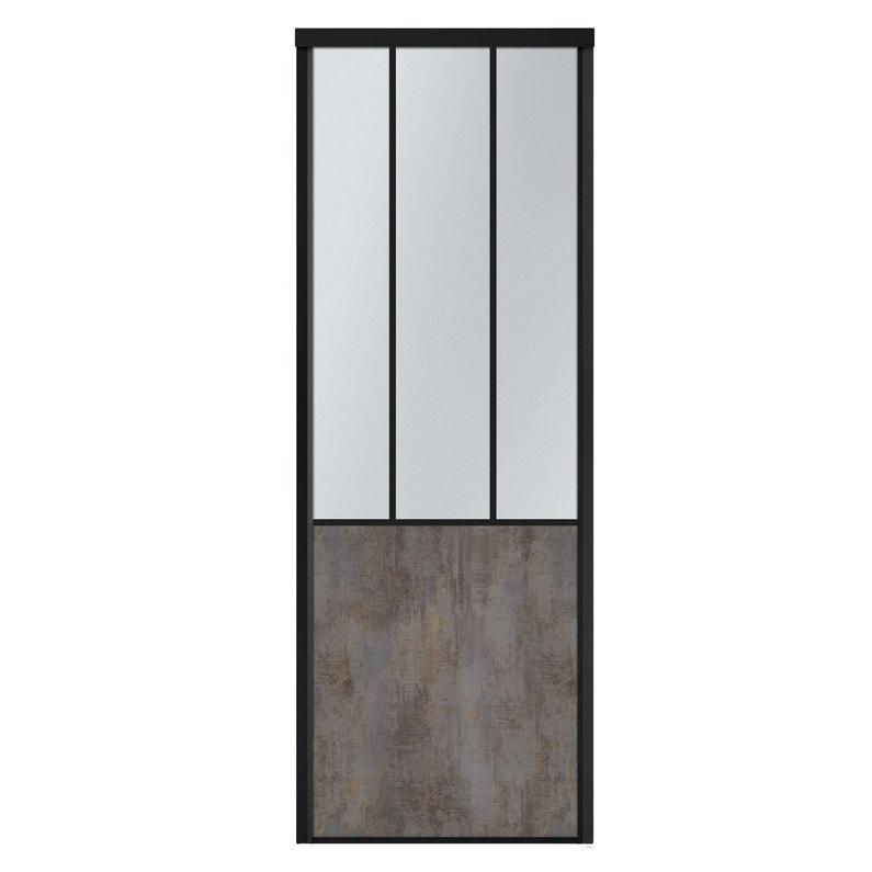 Porte De Placard Coulissante Sur Mesure Kazed Effet Atelier De 601 à 80 Cm