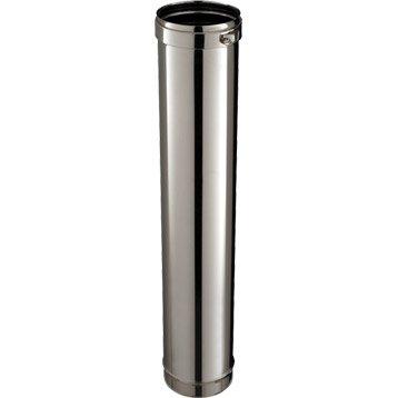 Rigide simple paroi pour tubage POUJOULAT, D. 180 mm 1 m
