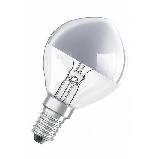 ampoule sph rique incandescente 40w 330lm e14 2700k osram leroy merlin. Black Bedroom Furniture Sets. Home Design Ideas