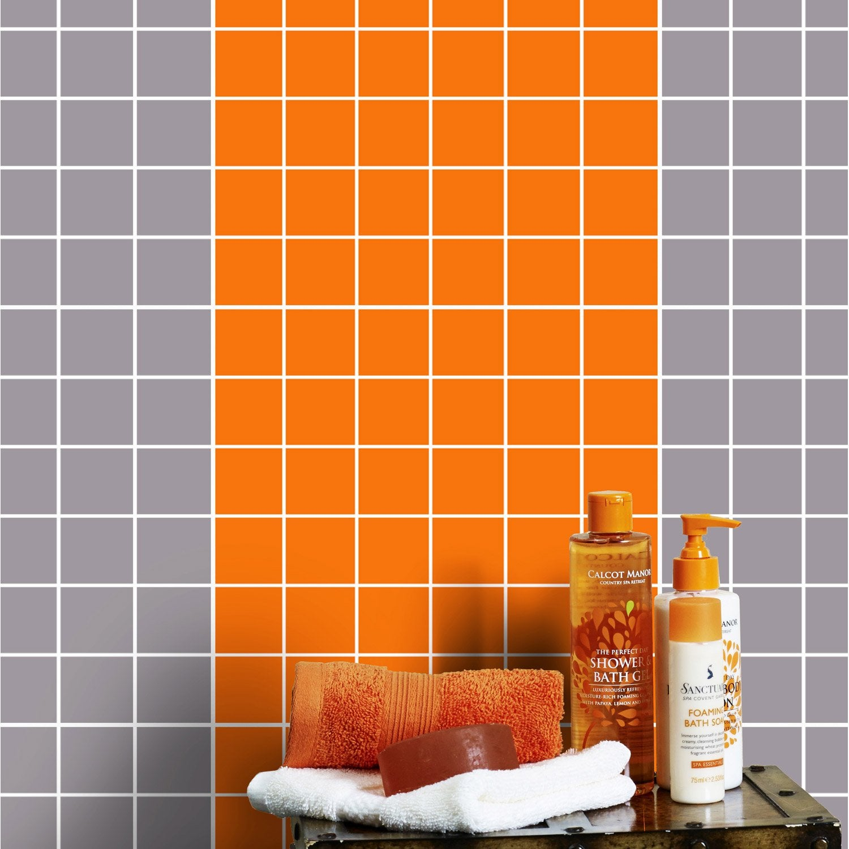 mosaïque mur astuce orange orange n°3   leroy merlin