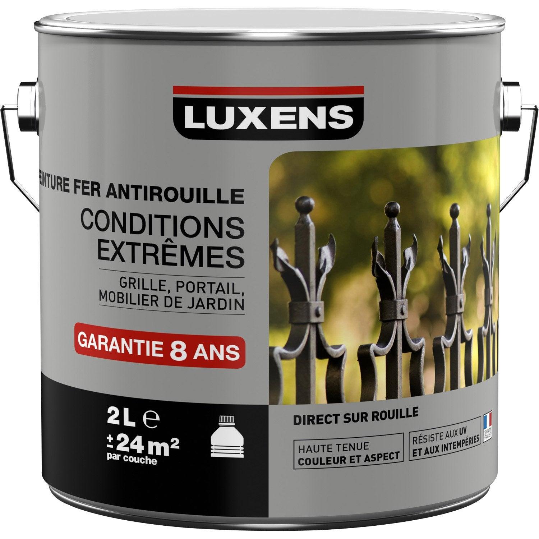 Peinture Fer Extérieur Antirouille LUXENS, Blanc Blanc N°0, 2 L
