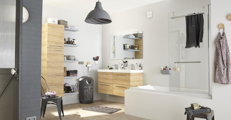 une salle de bains au style vintage industriel leroy merlin. Black Bedroom Furniture Sets. Home Design Ideas