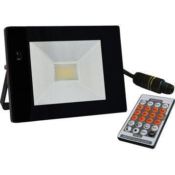 Projecteur à fixer extérieur LED intégrée 22 W = 1540 Lm, noir