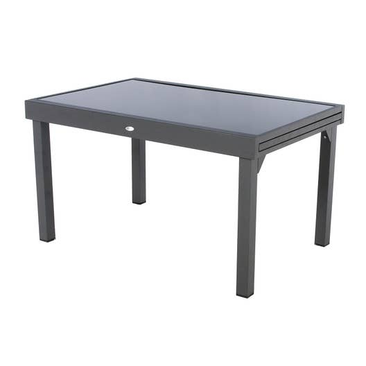 table de jardin hesperide piazza rectangulaire gris 12 personnes leroy merlin. Black Bedroom Furniture Sets. Home Design Ideas