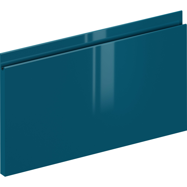 Façade de tiroir de cuisine Osaka bleu paon, DELINIA ID H.25.3 x l.59.7 cm