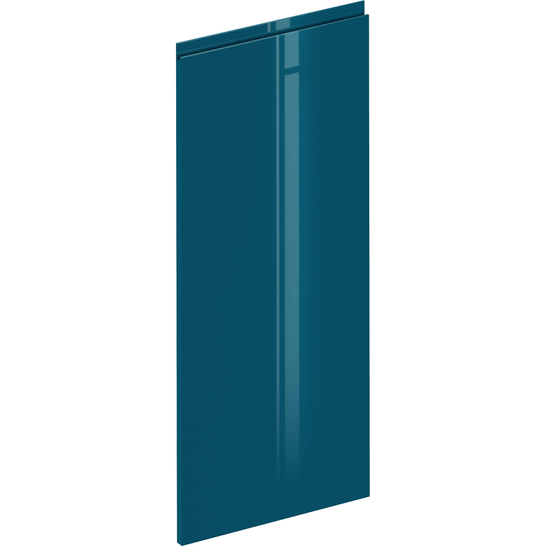 Porte de cuisine Osaka bleu paon brillant, DELINIA ID H.102.1 x l.59.7 cm