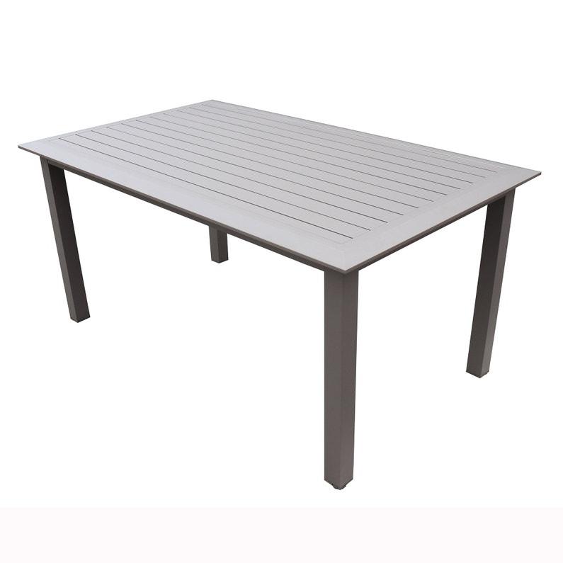 Table de jardin de repas VARANGUE Majunga rectangulaire taupe 6/8 personnes