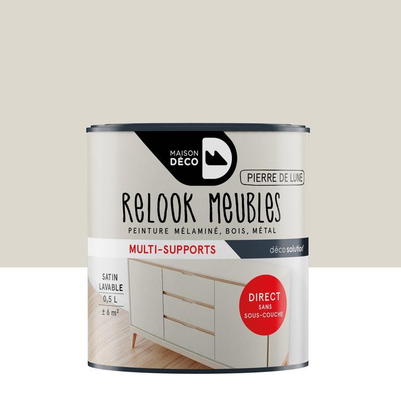 Peinture Pour Meuble Objet Et Porte Maison Deco Relook Meuble Gris 0 5 L