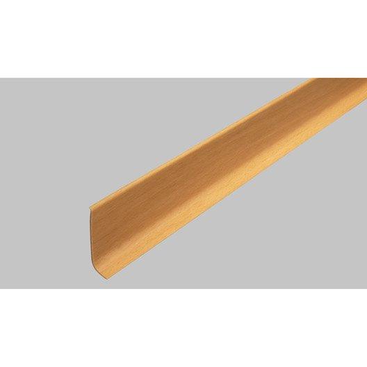 Plinthe PVC imitation hêtre, 15 x 60 mm, L.2.5 m