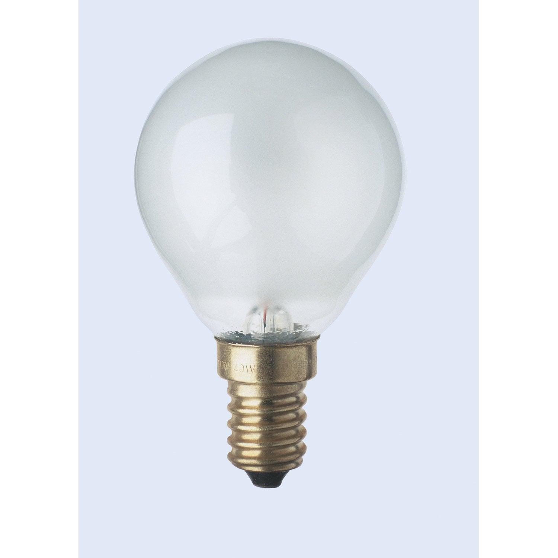 ampoule sph rique incandescente 40w e14 2700k osram leroy merlin. Black Bedroom Furniture Sets. Home Design Ideas