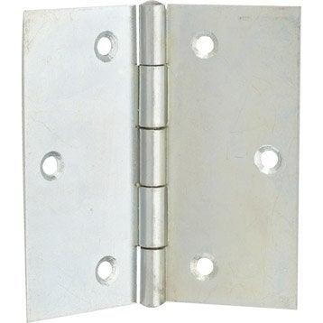 Charnière universelle acier pour meuble, L.80 x l.80 mm
