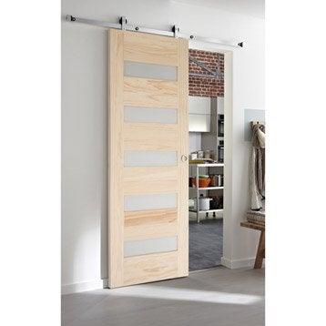 Ensemble porte coulissante porte galandage porte - Comment mettre une porte coulissante ...