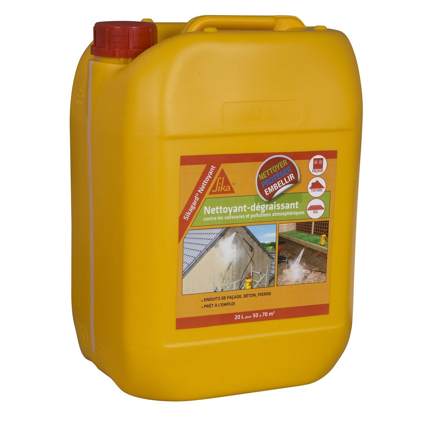 Nettoyant Désincrustant SIKA Sikagard 20 L Incolore