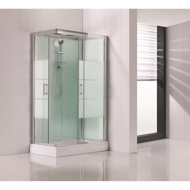Cabine De Douche Rectangulaire 120x80 Cm Optima2 Blanche