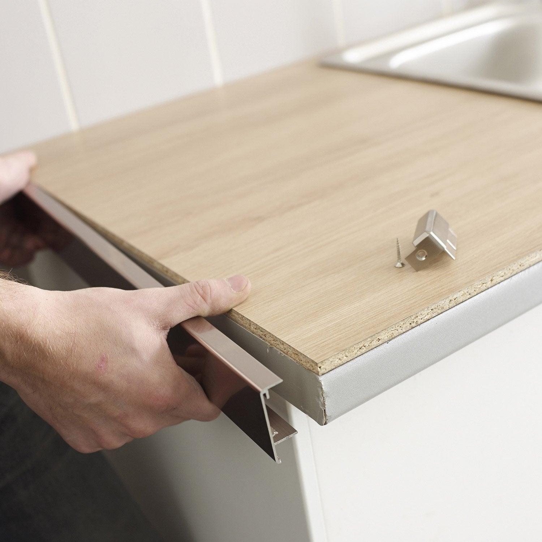 concept de r novation de plan de travail r no plan aluminium bross leroy merlin. Black Bedroom Furniture Sets. Home Design Ideas