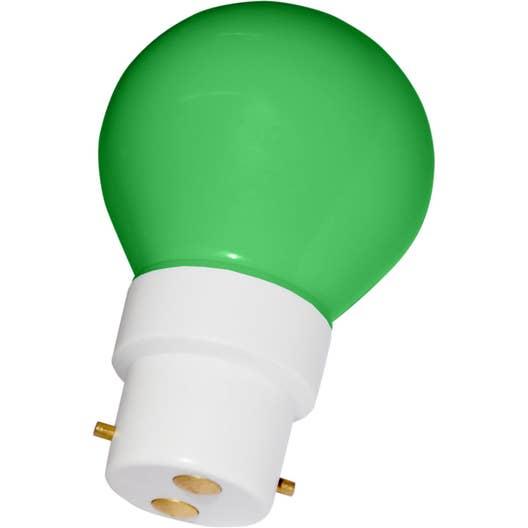 ampoule led ronde b22 0 5w verte leroy merlin. Black Bedroom Furniture Sets. Home Design Ideas