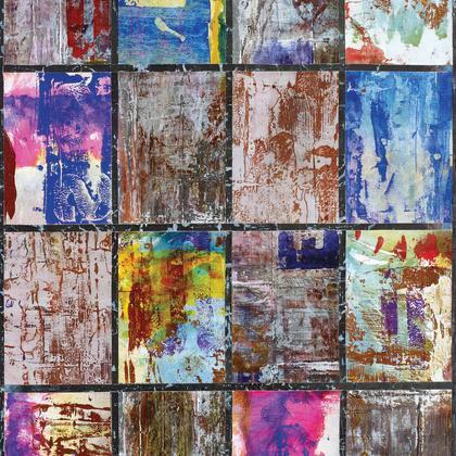 Papier Peint Scratch Multicolore Intisse Street Art Leroy Merlin