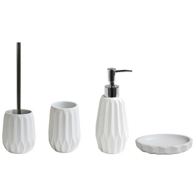 Brosse WC Issey, blanc-blanc n°0   Leroy Merlin 503dc245d8a4
