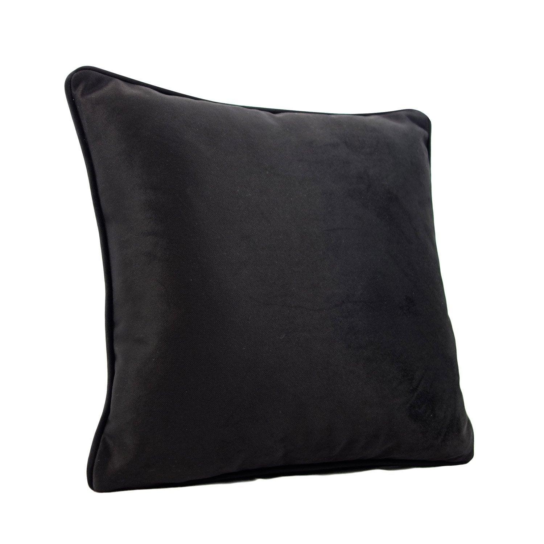 Coussin Bristol, noir l.60 x H.60 cm | Leroy