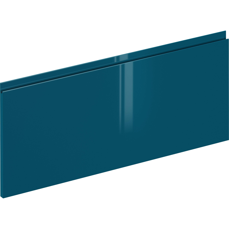 Façade de tiroir de cuisine Osaka bleu paon, DELINIA ID H.38.1 x l.89.7 cm