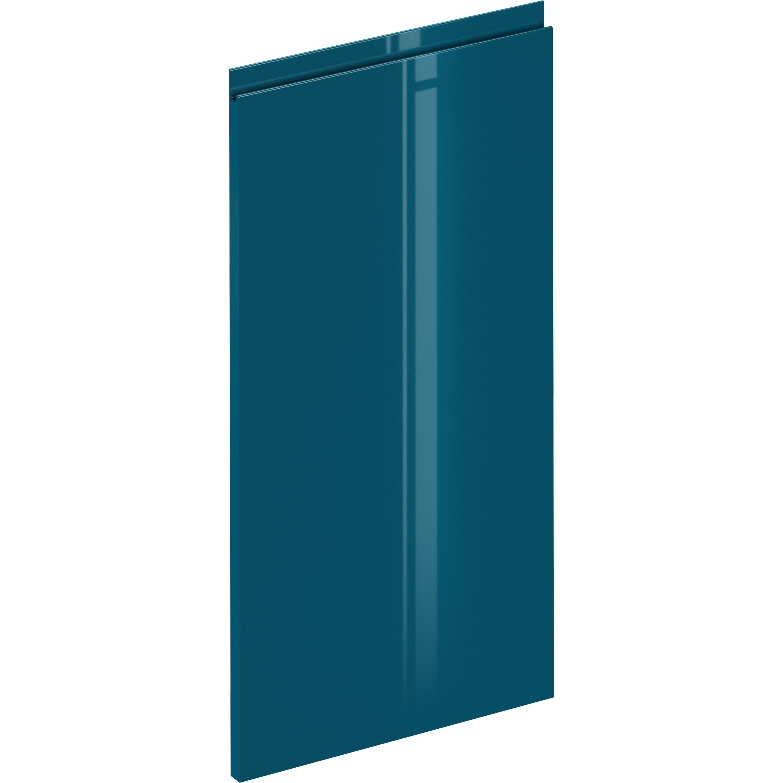 Porte de cuisine Osaka bleu paon brillant, DELINIA ID H.76.8 x l.44.7 cm