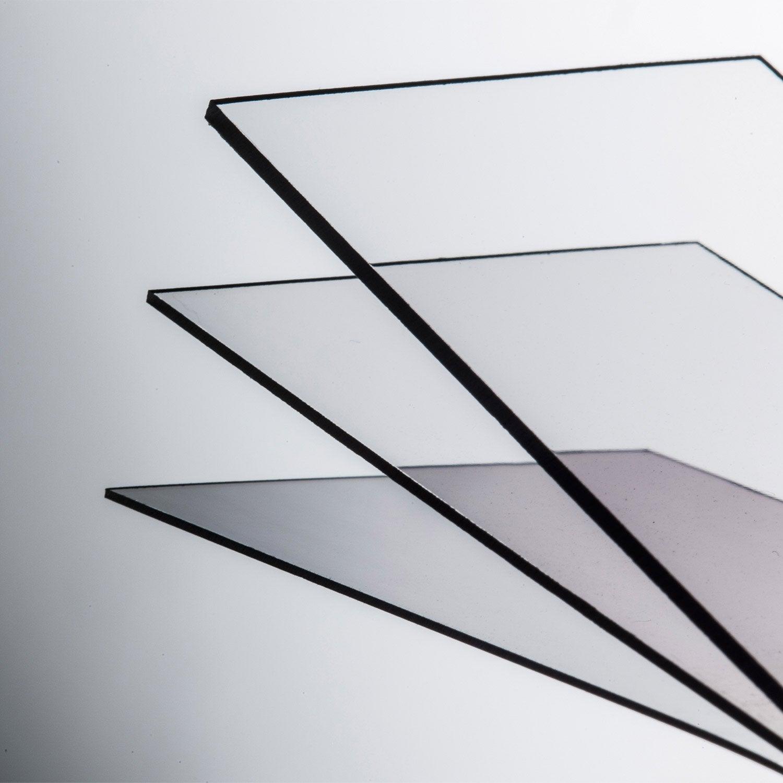 plaque polystyrène 25 mm transparente lisse l50 x 25 cm