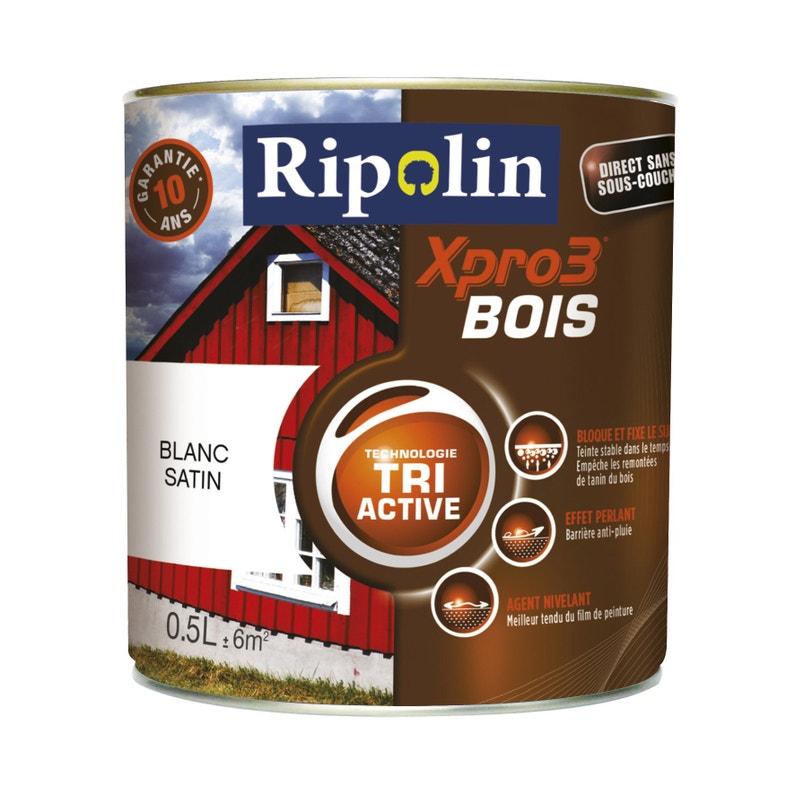 Peinture Bois Extérieur Intérieur Xpro 3 Ripolin Noir 05 L