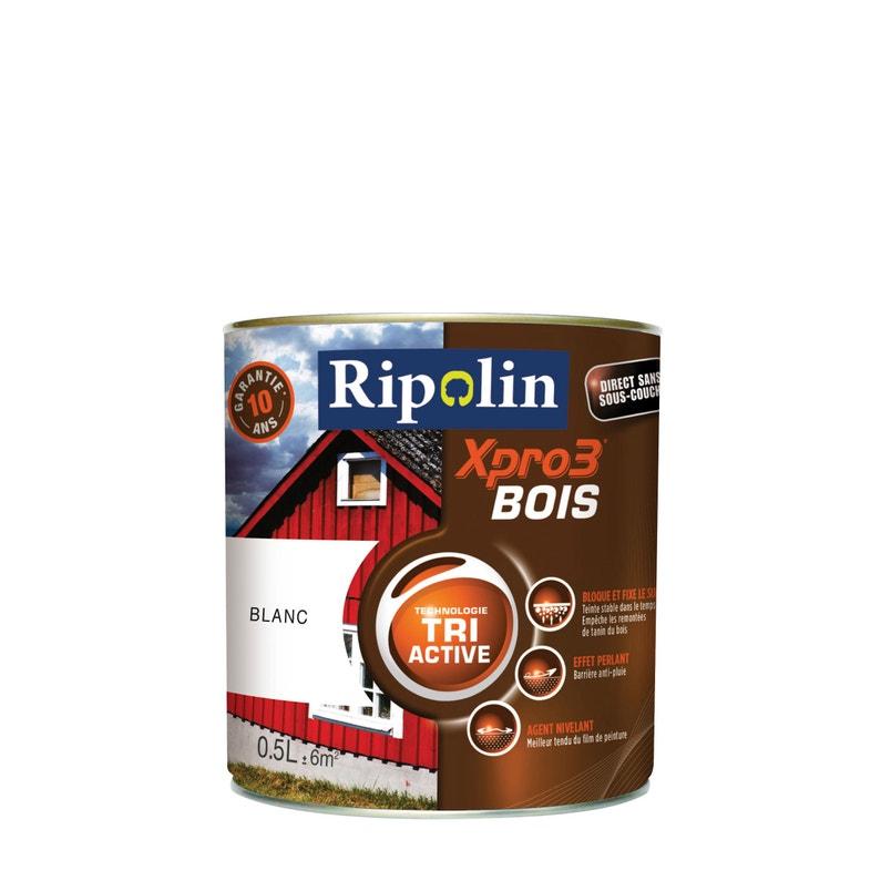 Peinture Bois Extérieur Intérieur Xpro 3 Ripolin Blanc 05 L