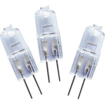 Lot de 3 ampoules bulbes halogènes 14W = 165Lm (équiv. 20W) G4 2800K LEXMAN