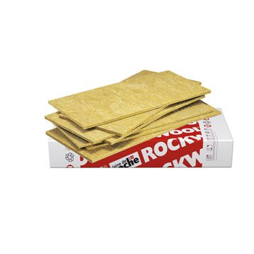 Panneau en laine de roche Rocksol Expert ROCKWOOL 1.2x0.6m, Ep.30mm, R=0.75