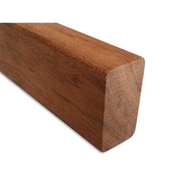 Lambourde Pour terrasse bois exotique, naturel, L.2.25 m x l.6 cm x Ep.38 mm