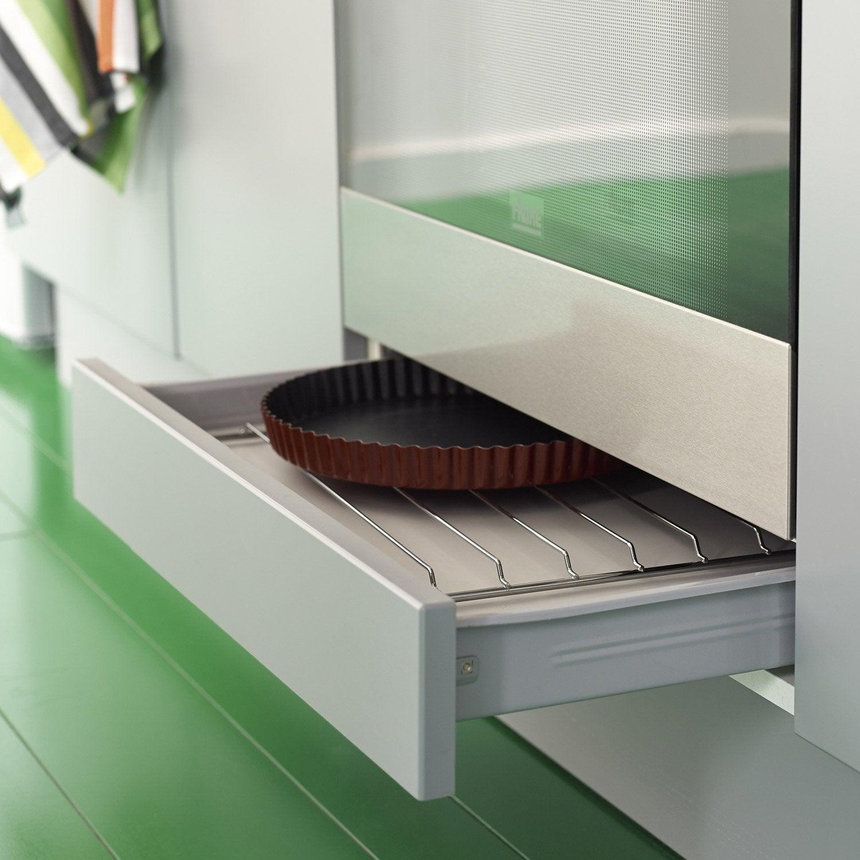 tiroir sous four pour meuble cm delinia leroy merlin. Black Bedroom Furniture Sets. Home Design Ideas