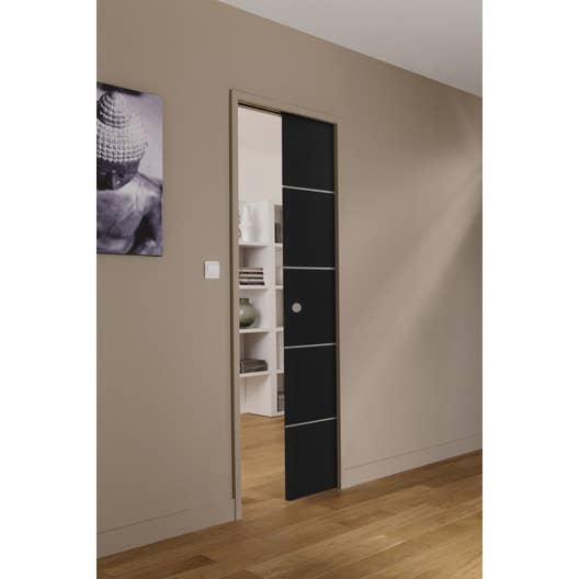 ensemble porte coulissante miami verre avec le galandage artens 3 en aluminium leroy merlin. Black Bedroom Furniture Sets. Home Design Ideas